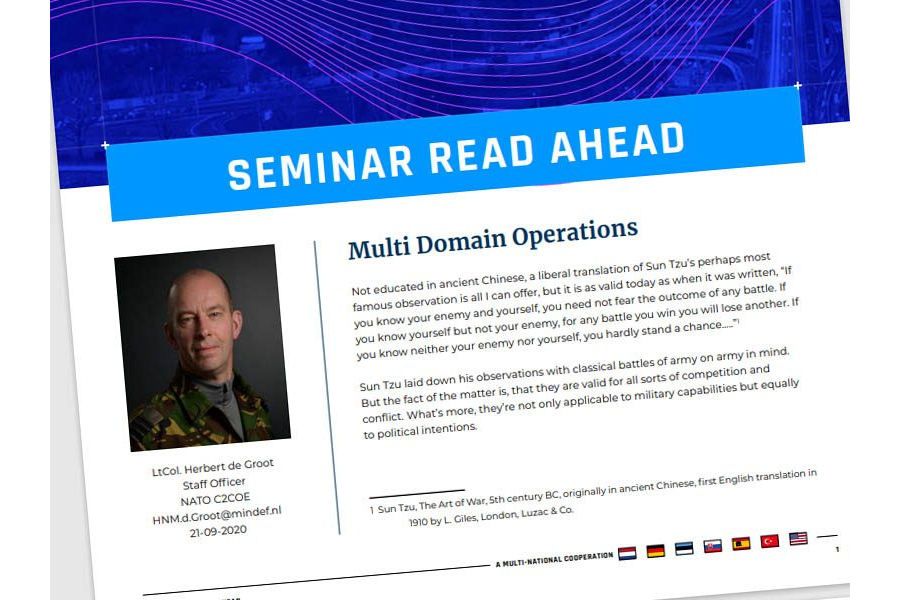 Seminar 2020 Read-Ahead | Lt Col Herbert de Groot – Multi-Domain Operations