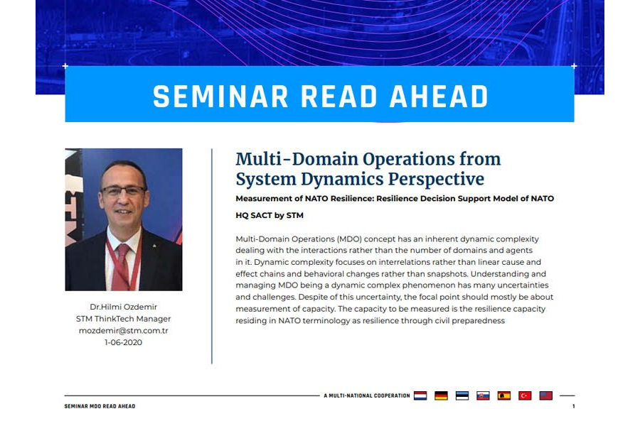 Seminar 2020 Read-Ahead | Dr. Hilmi Ozdemir – Multi-Domain Operations from System Dynamics Perspective