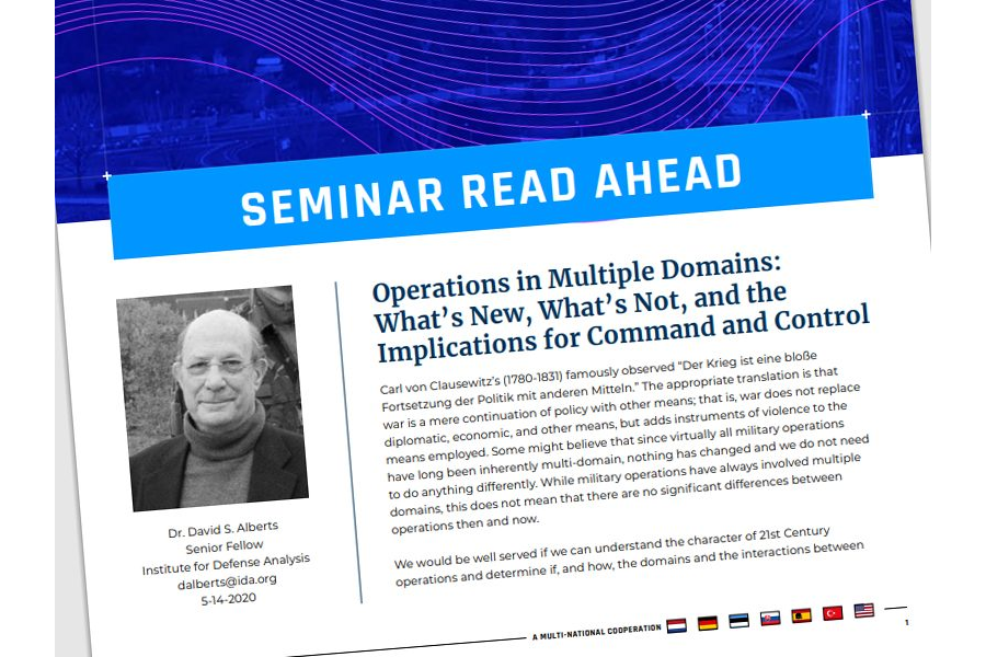 Seminar 2020 Read-Ahead | Dr Johann Schmid – Hybrid Warfare – operating on multidomain Battlefields